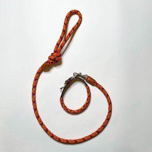 Zara Multi-Coloured Braided Leash and Collar
